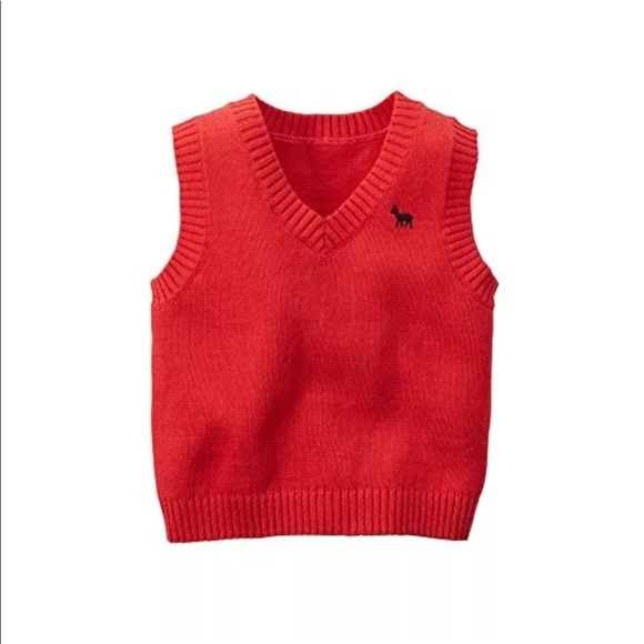 a6ee8e1a Carter's Jackets & Coats | Carters Baby Boy Red Sweater Vest Size 6 ...